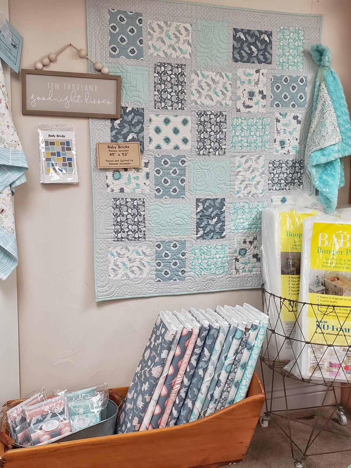 Baby Bricks Blue Quilt Kit