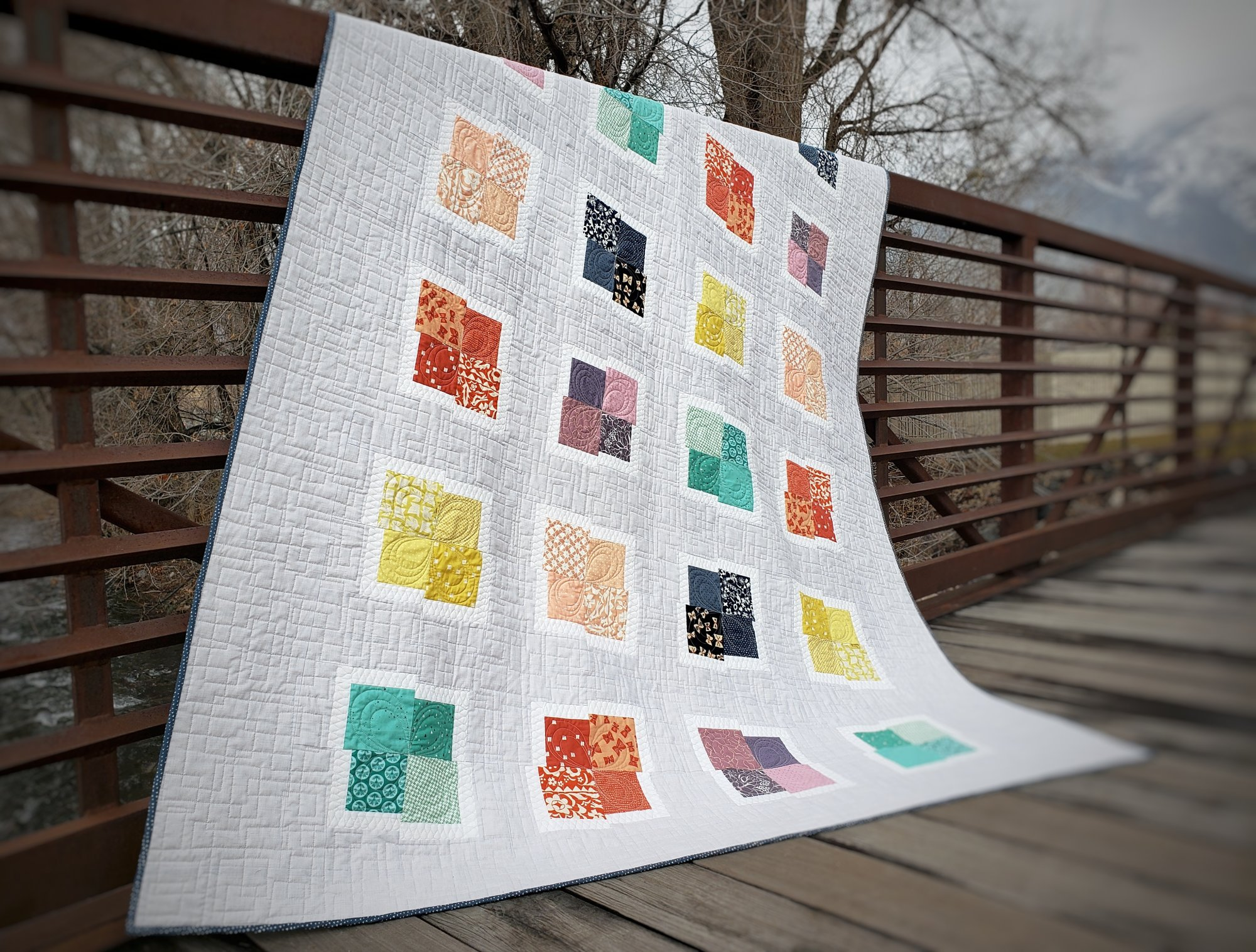 Everything's Coming Up Rainbows Quilt Kit