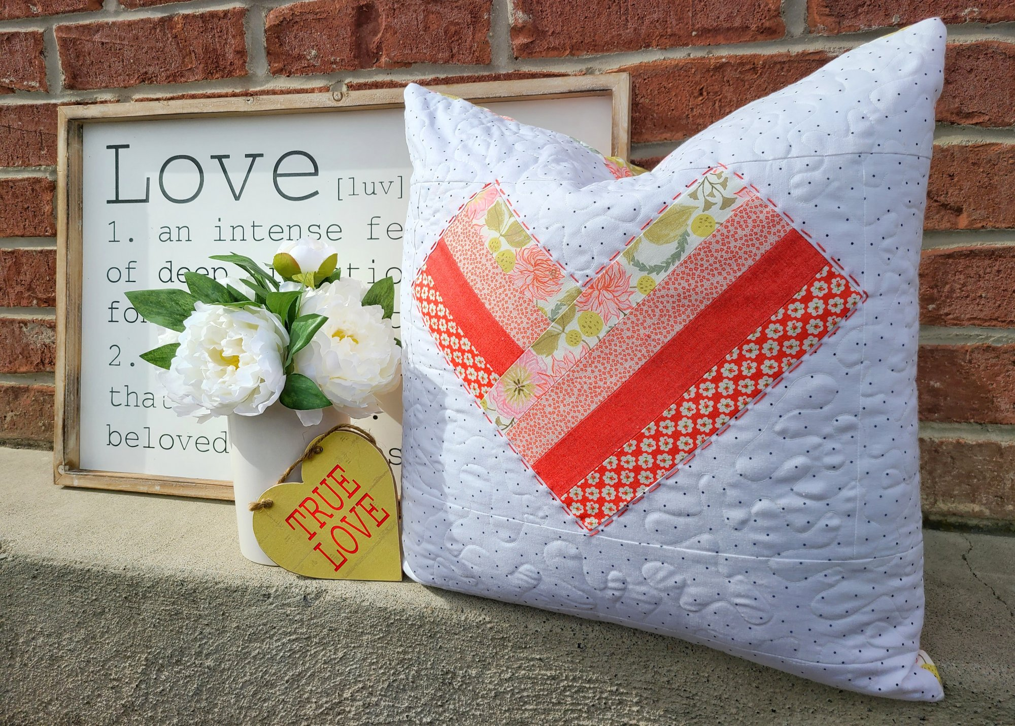 February Pillow Cover PDF Pattern