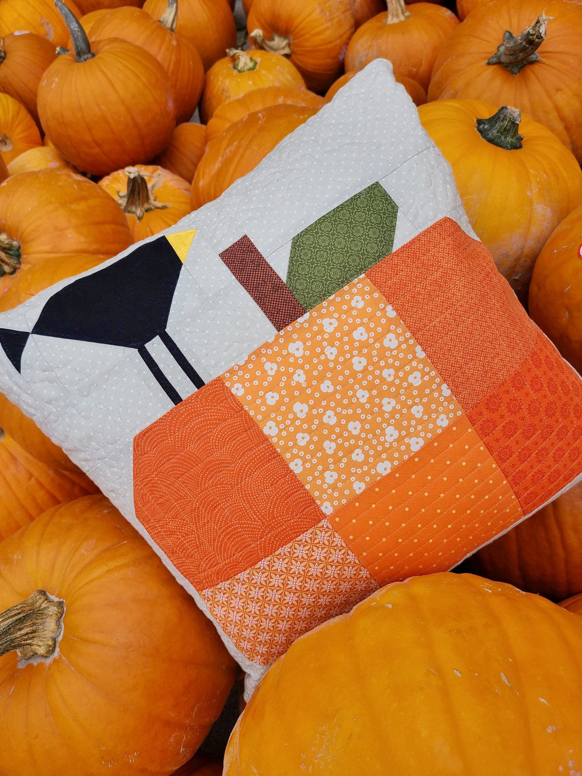 October Pillow Cover Pattern PDF