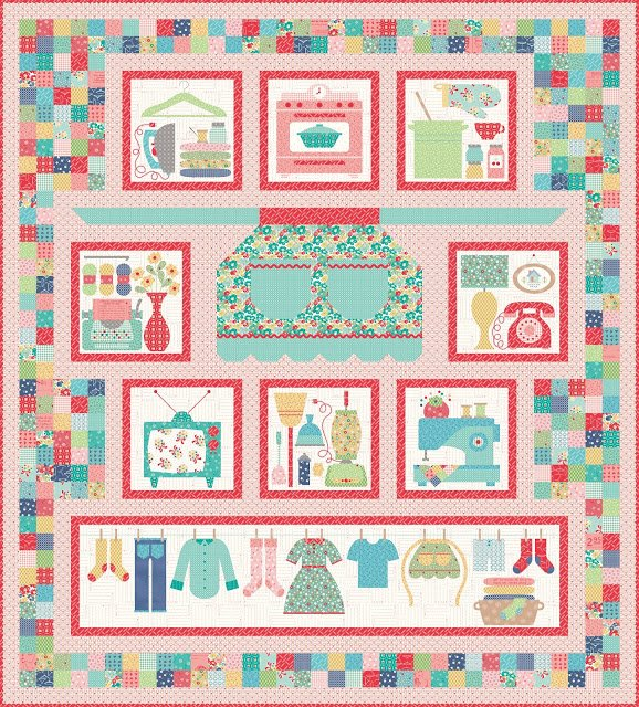 Vintage Housewife Quilt Kit