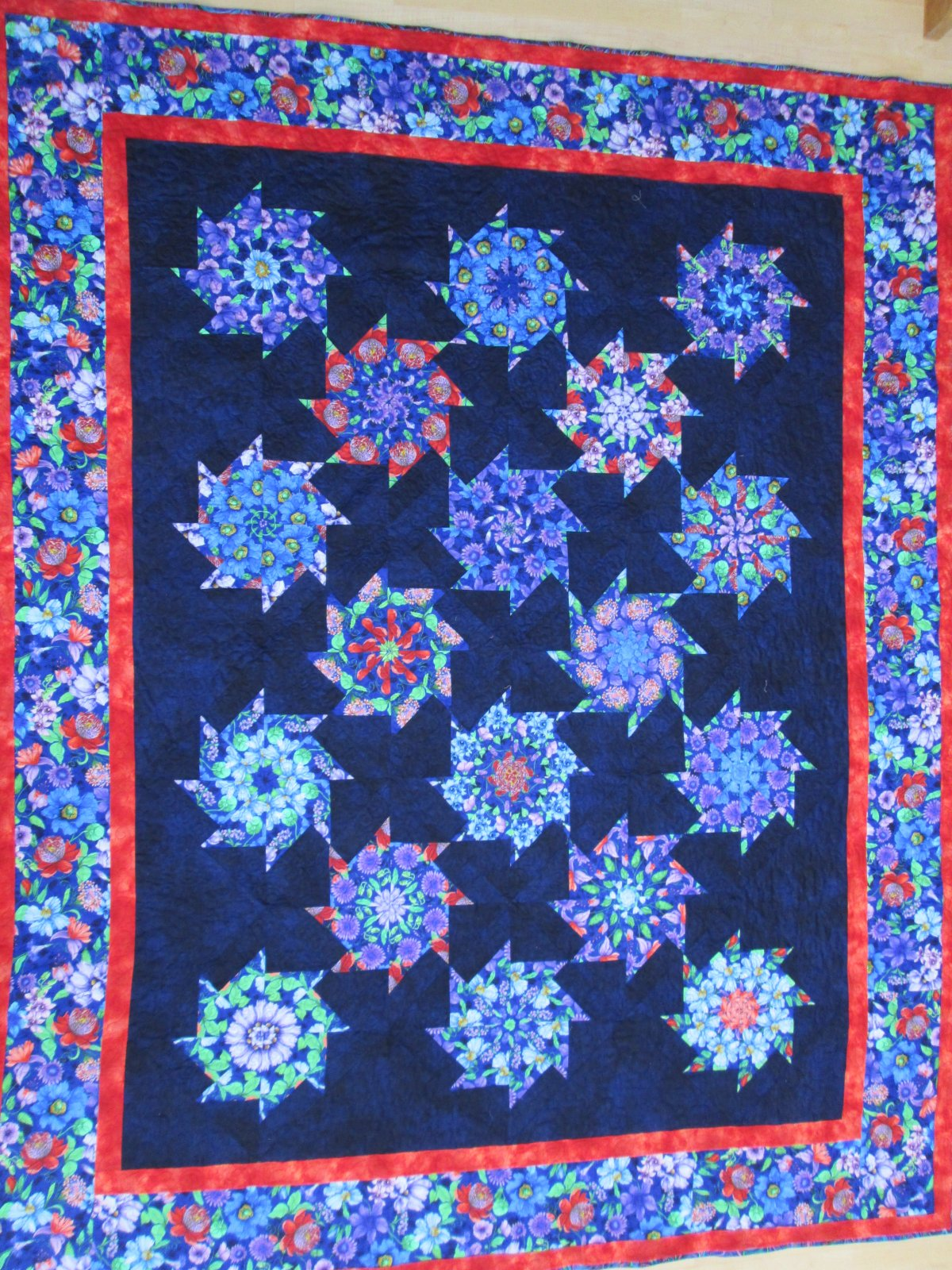 Fairy Fantasy Stack n Whack finished quilt sample