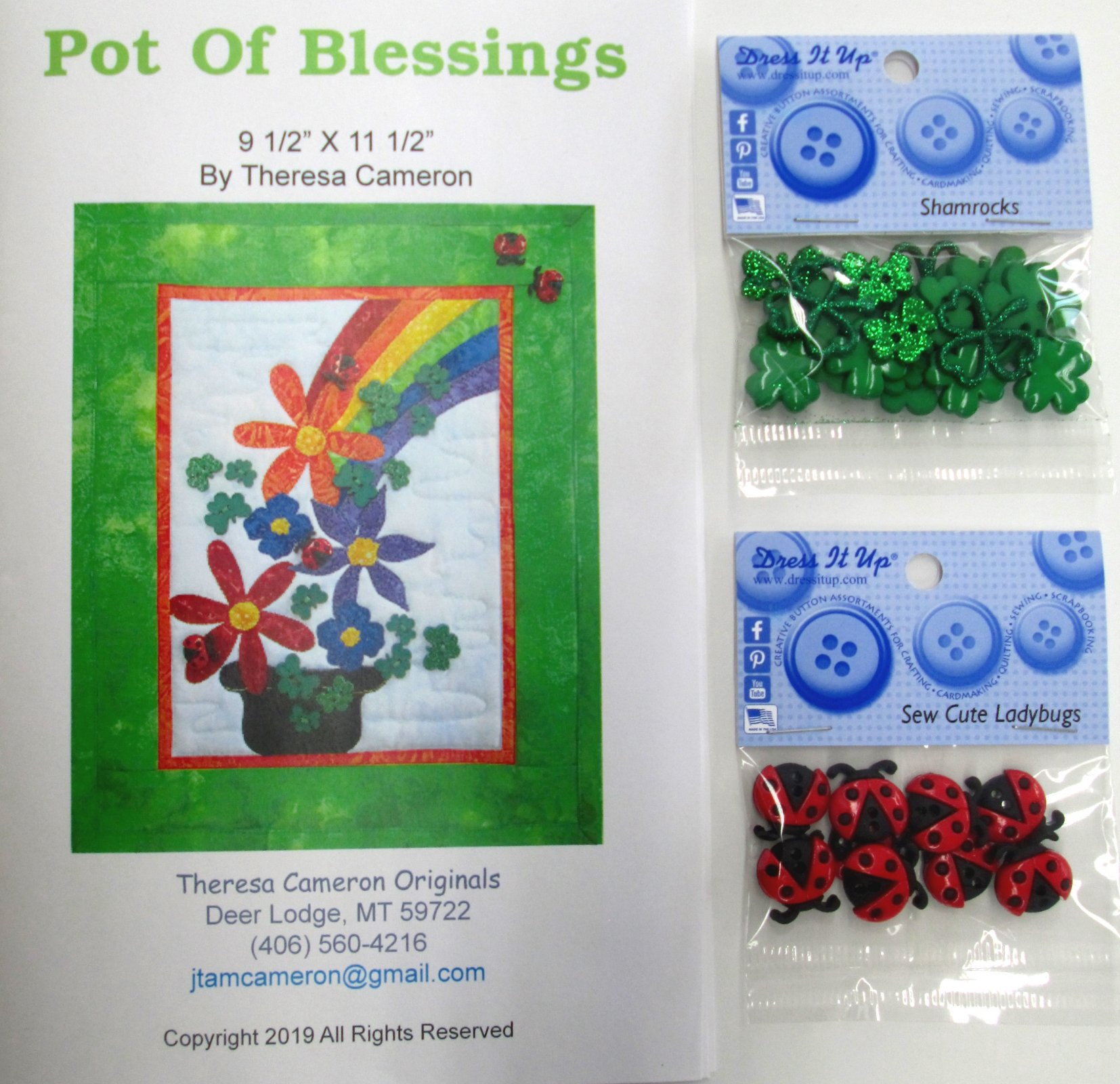 Pot of Blessings Pattern with Buttons