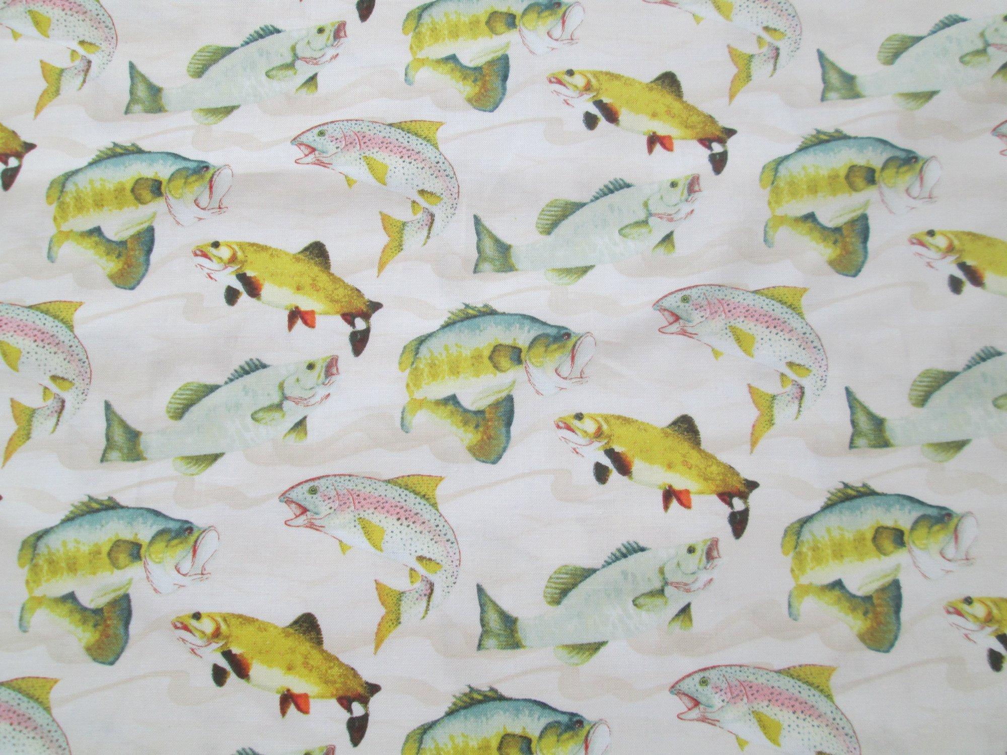 Windham Gone Fishin 50381-4 Fish on Cream Trout, Bass, Walleye
