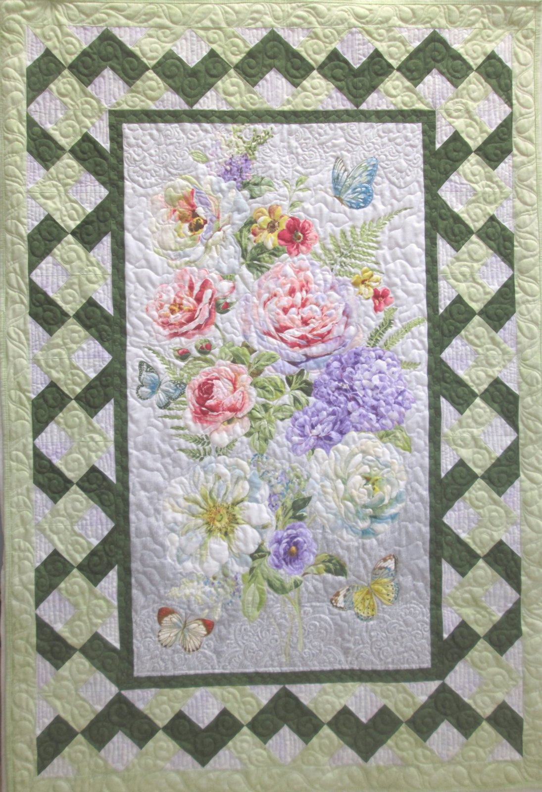 Butterfly Haven Elegance Quilt or Wall Hanging Kit