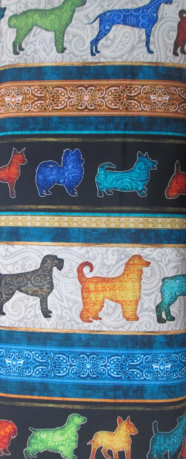 Quilting Treasures MUST LOVE DOGS  26936-J DOG STRIPE BLACK