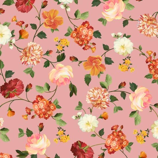Quilting Treasures Les Fleurs 24358-P Medium Floral Pink - Pink