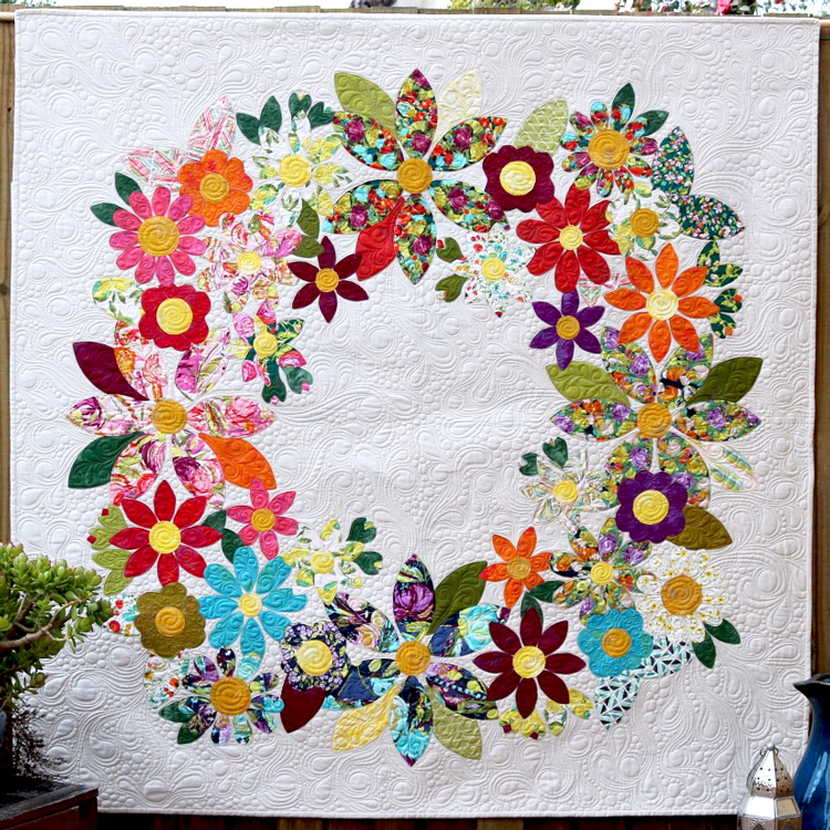 Flowering Wreath by Free Bird Quilting Designs pattern for 67, 80 or 92 square quilt
