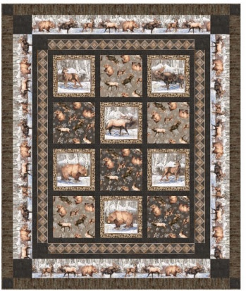North Ridge High Country Flannel Quilt Sample 68 x 82