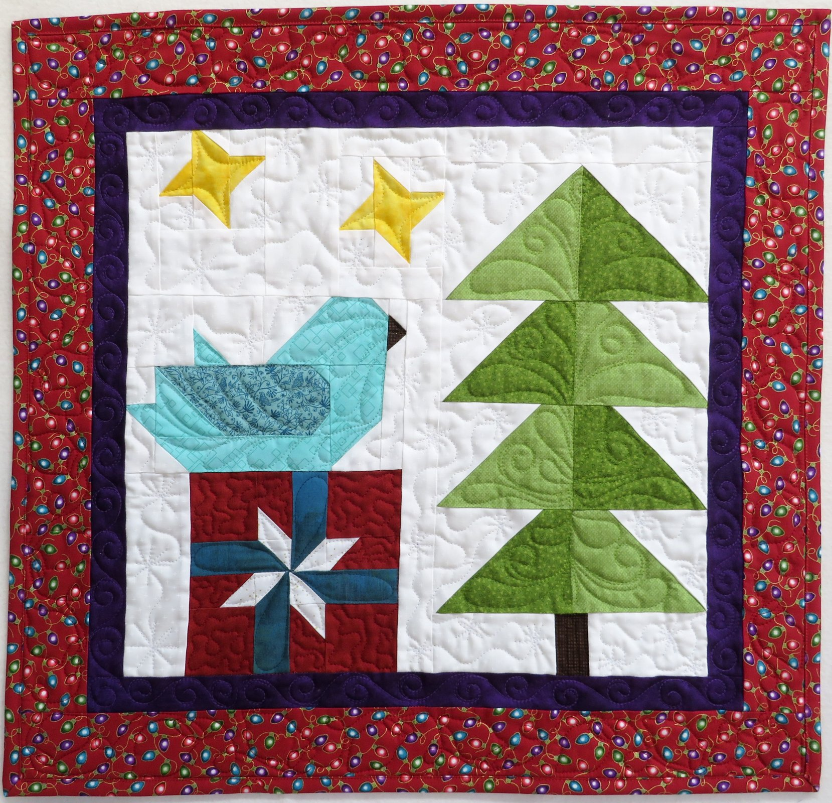Feathered Friends Winter 22x23 wallhanging kit
