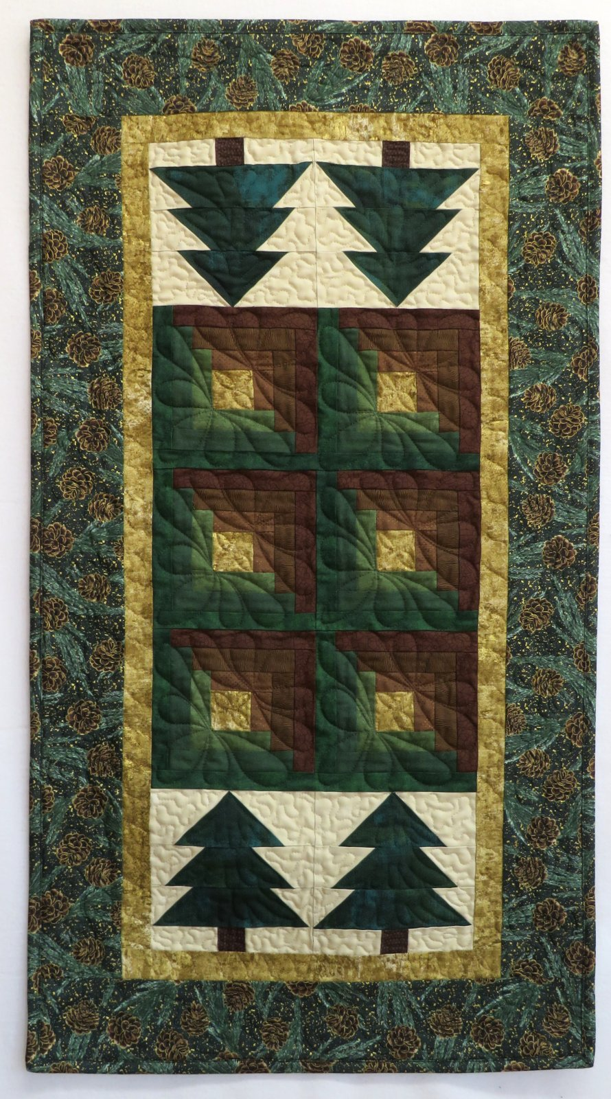 Log Cabin in the Pines Table Runner Kit