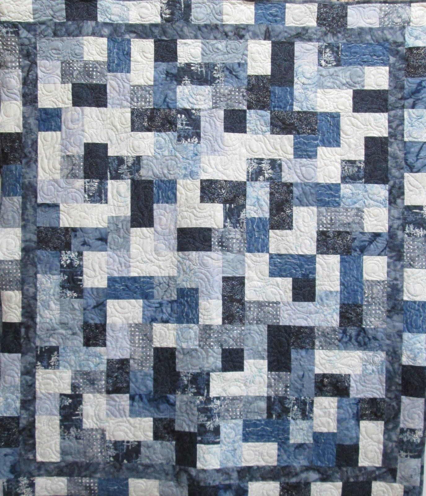 Blue Grey Hoffman Batik Hopscotch Kit