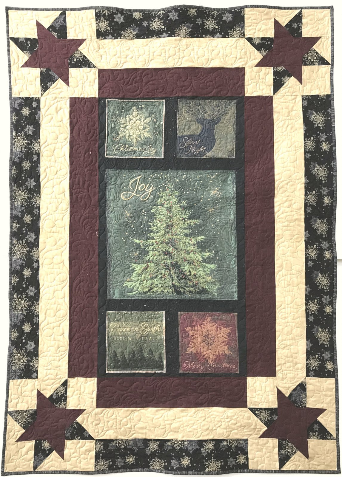 Let Nature Sing Panel Quilt Sample