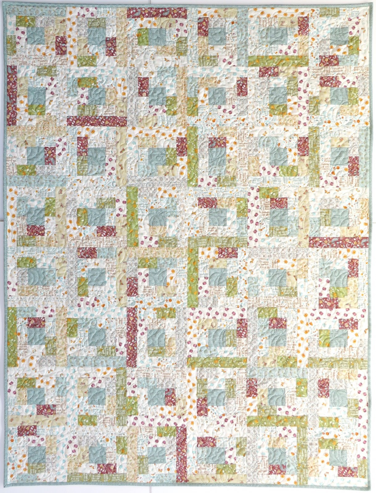 Crazy Courthouse Steps Quilt Sample