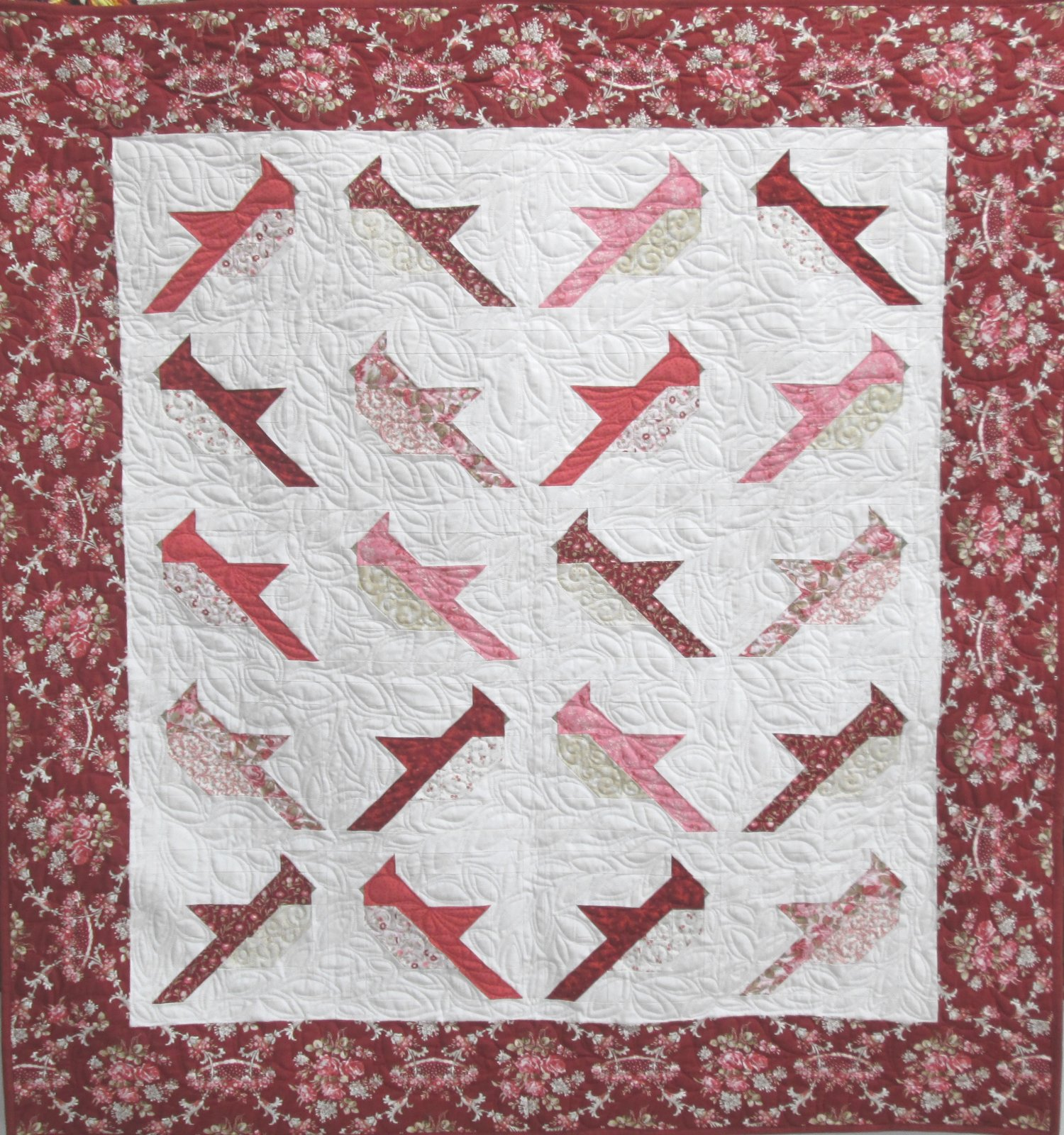 Rhapsody in Red Cardinals Quilt Kit