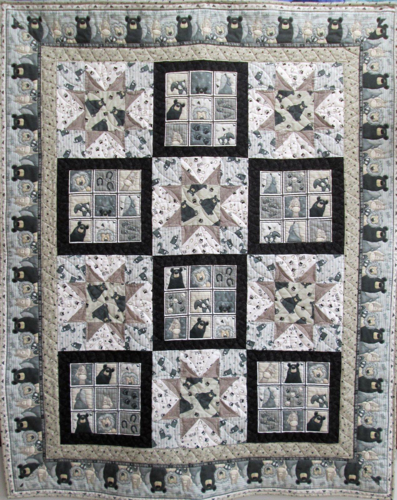 Furr-Ever Friends Flannel Quilt 50x62
