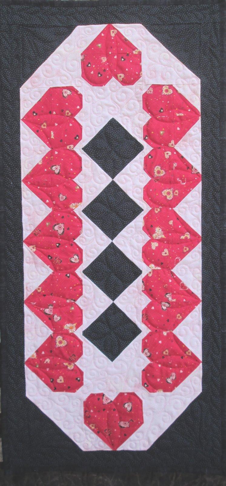 Hearts & Chocolate Diamonds Table Runner Kit