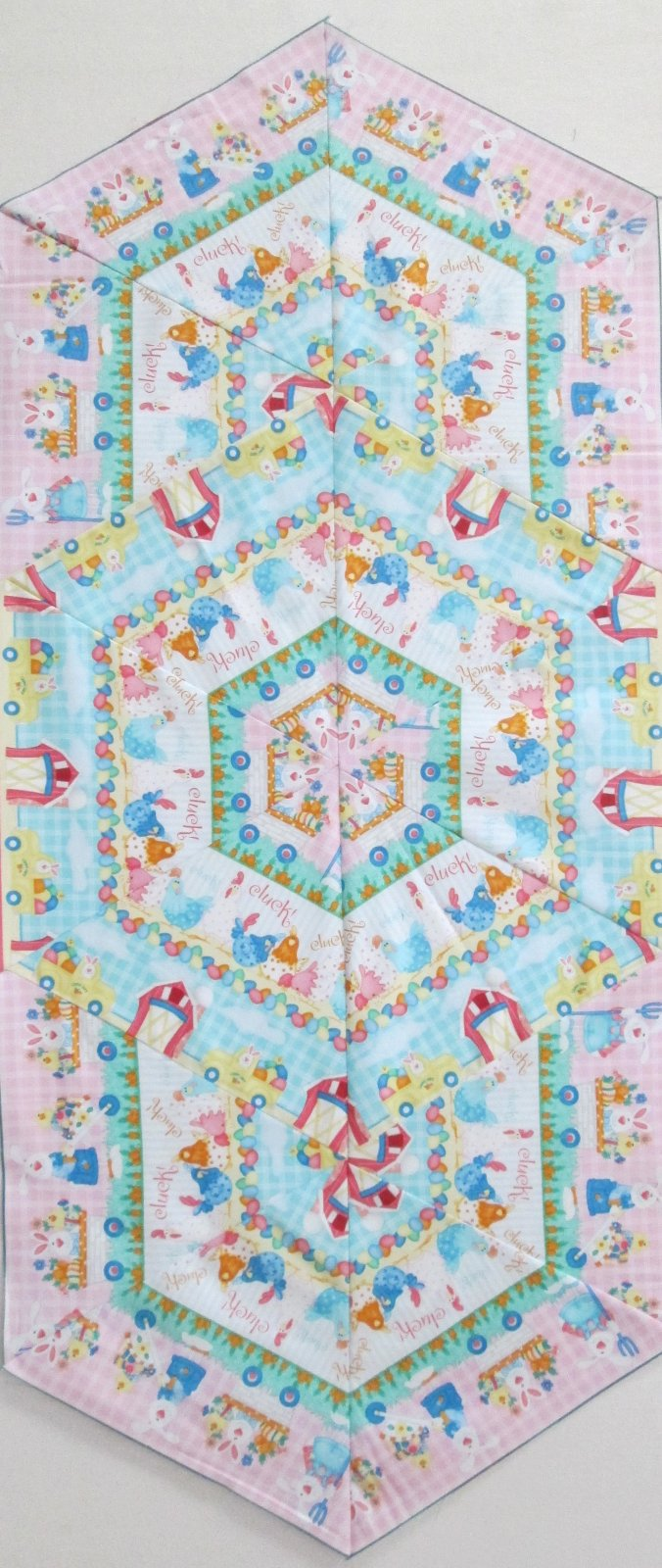 Down on the Bunny Farm Triangle Frenzy Table Runner Kit