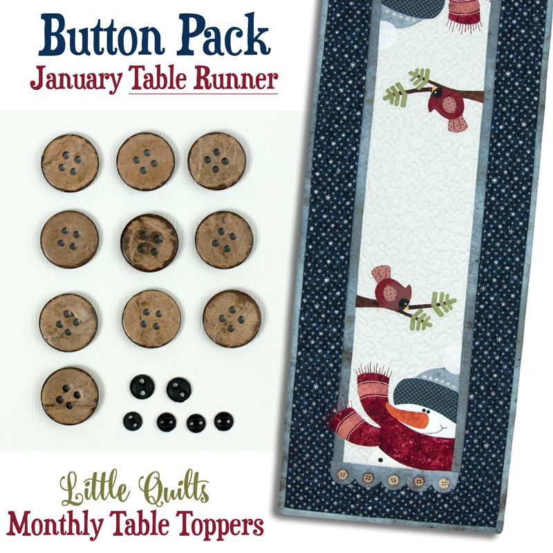 January Blizzard Buddies Tablerunner Button Pack