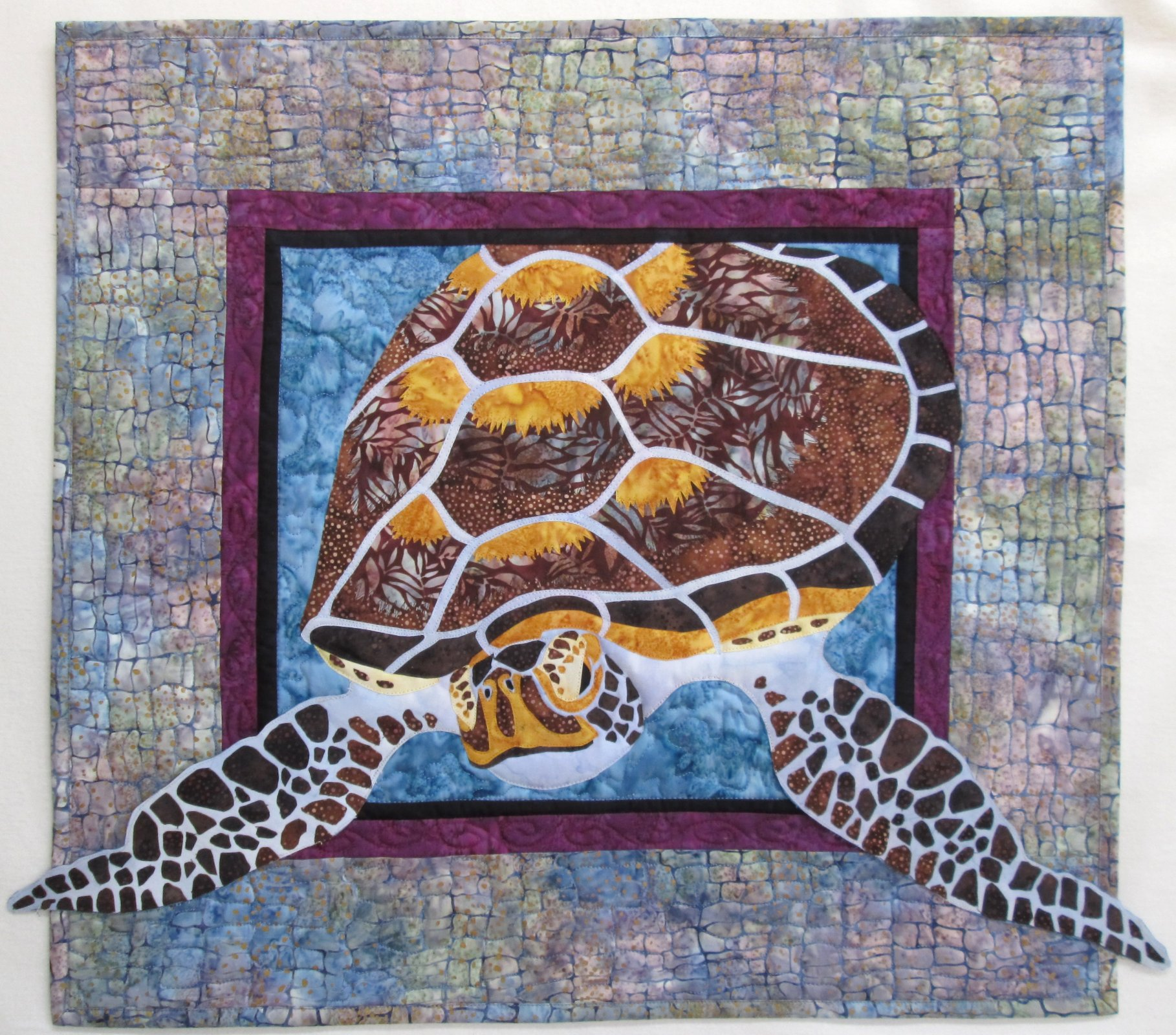 Tortuga Sea Turtle Wall Hanging Finished Sample
