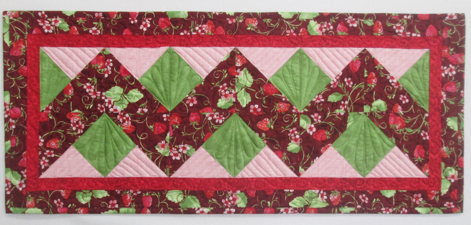 Sugar Berry Double Chevron Table Runner Kit 15 x 35 includes binding & pattern