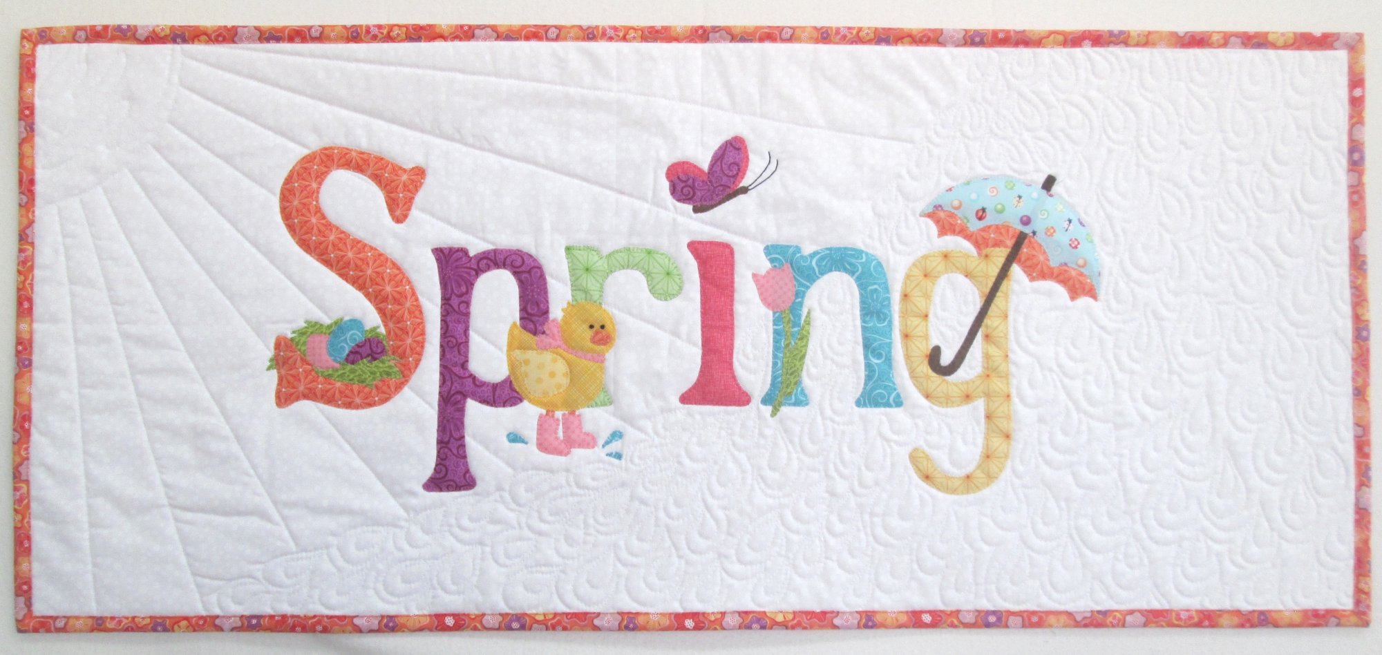 A Year in Words Spring Table Runner or Pillow Kit