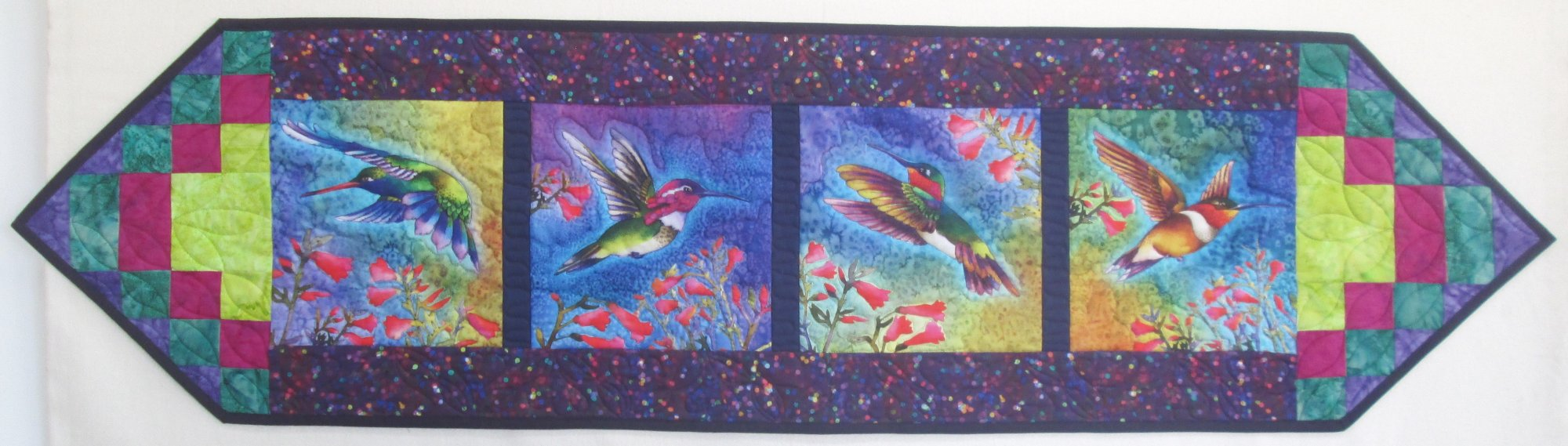 Nature Studies Hummingbird What's For Dinner Table Runner Sample 15.5 x 60