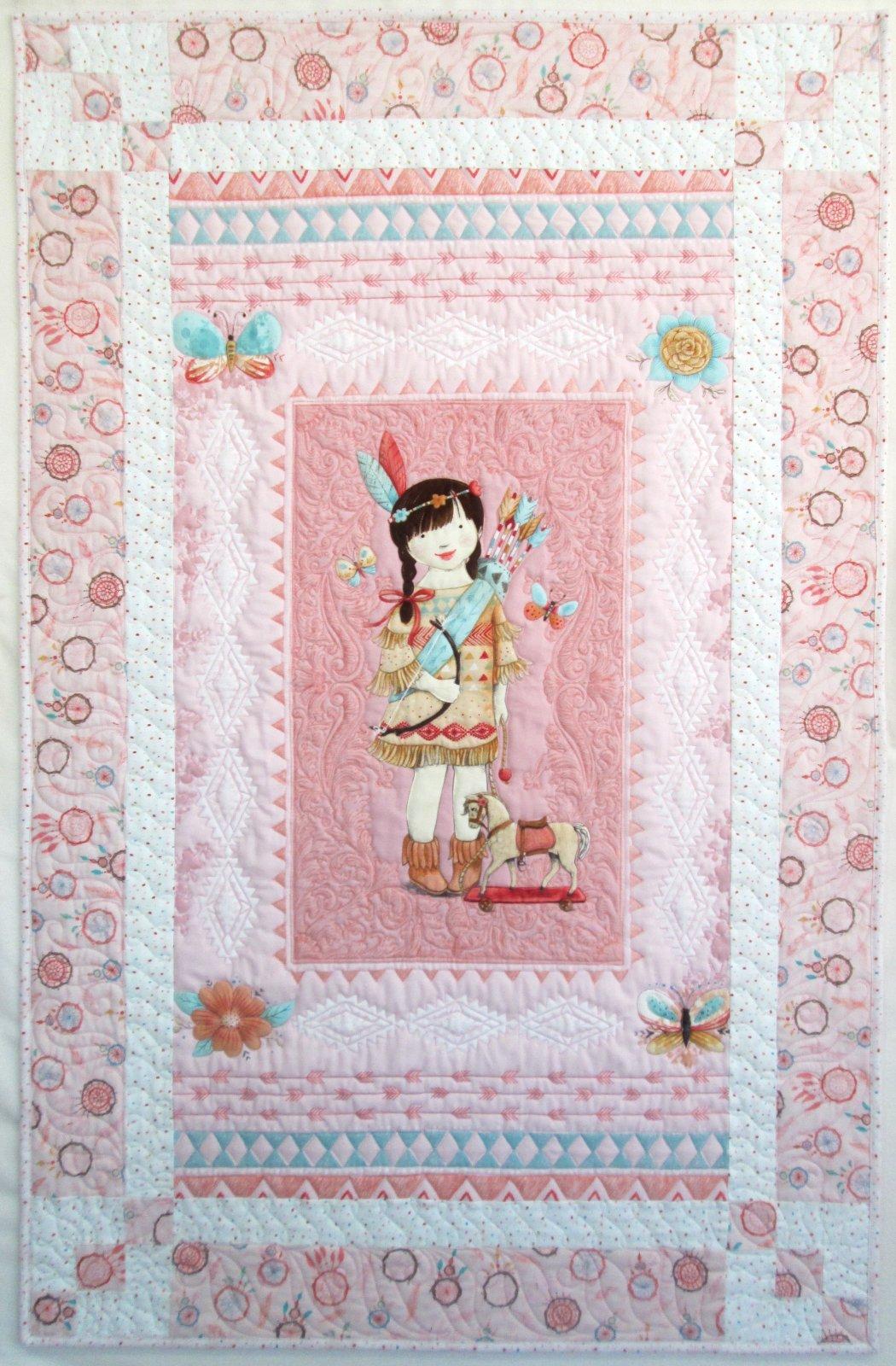 Dream Catchers Flannel Panel Magic Quilt Sample
