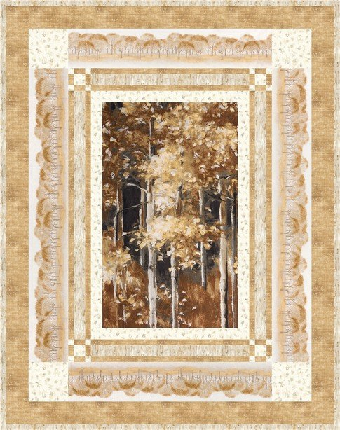 Woodland Sanctuary Quilt Kit featuring Sound of the Woods