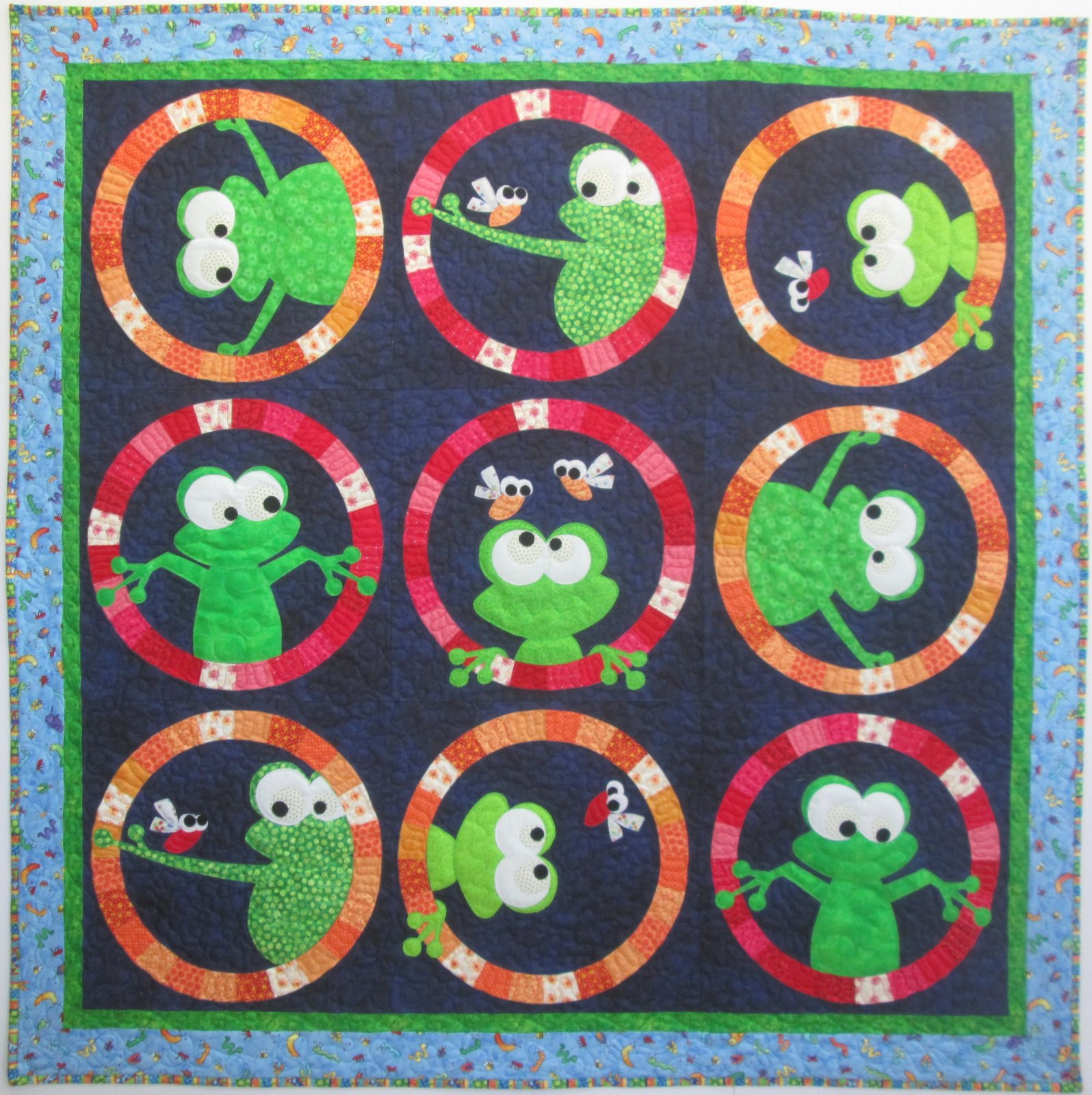 Frog Face Quilt Sample 60 x 60