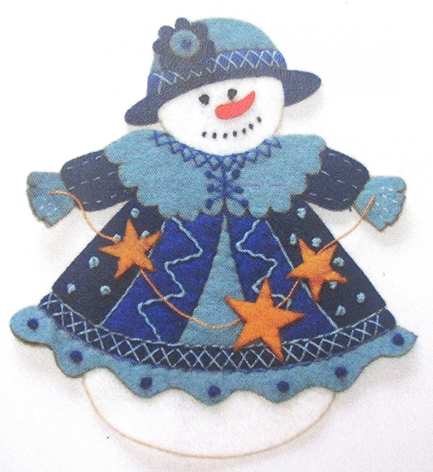 Artsi2 Fiona Snowlady Ornament Kit 6.75 x 6