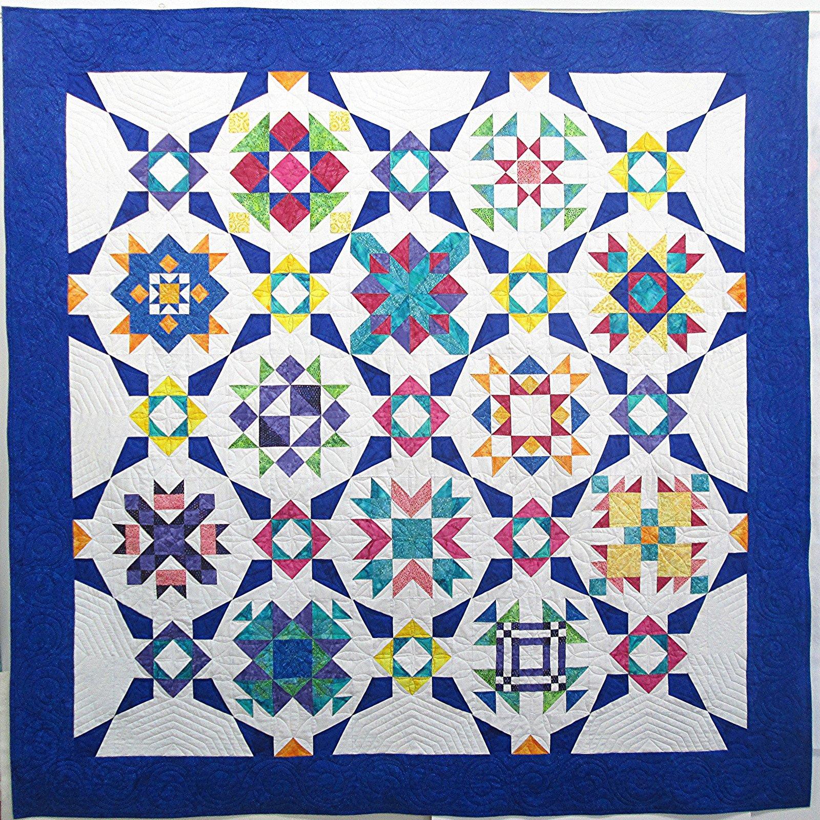 Hoffman Batik Incandescence Quilt Sample 80 x 80