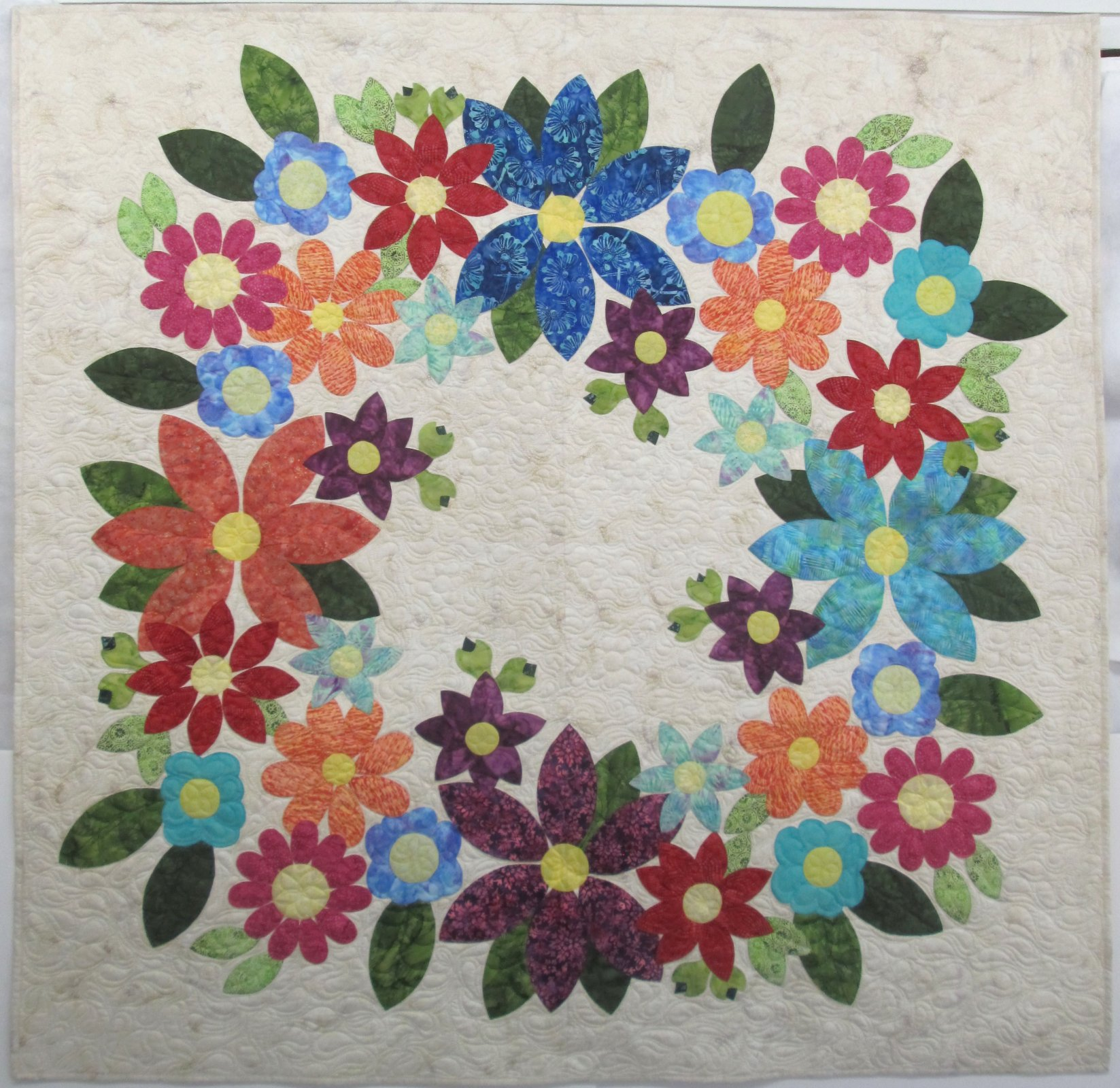 Batik Flowering Wreath Kit