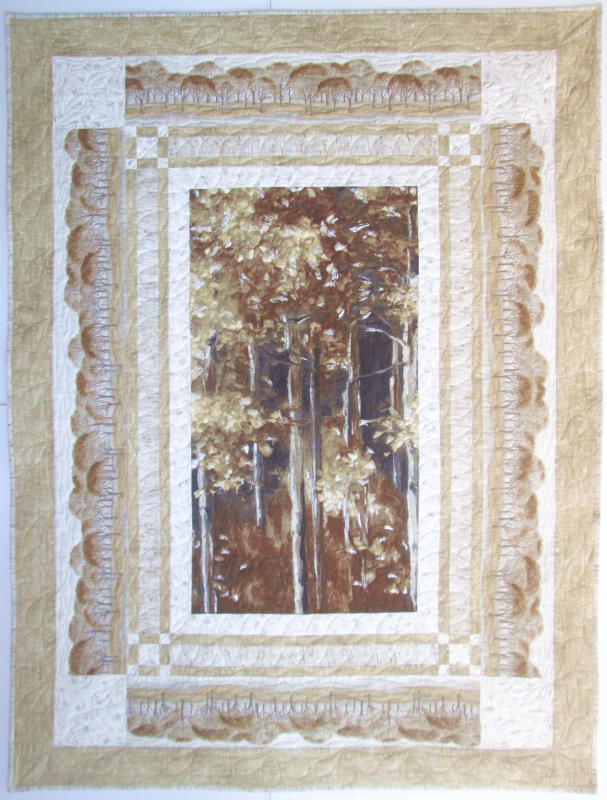 Woodland Sanctuary Quilt Sample 55.5 x 74.5 featuring Sound of the Woods