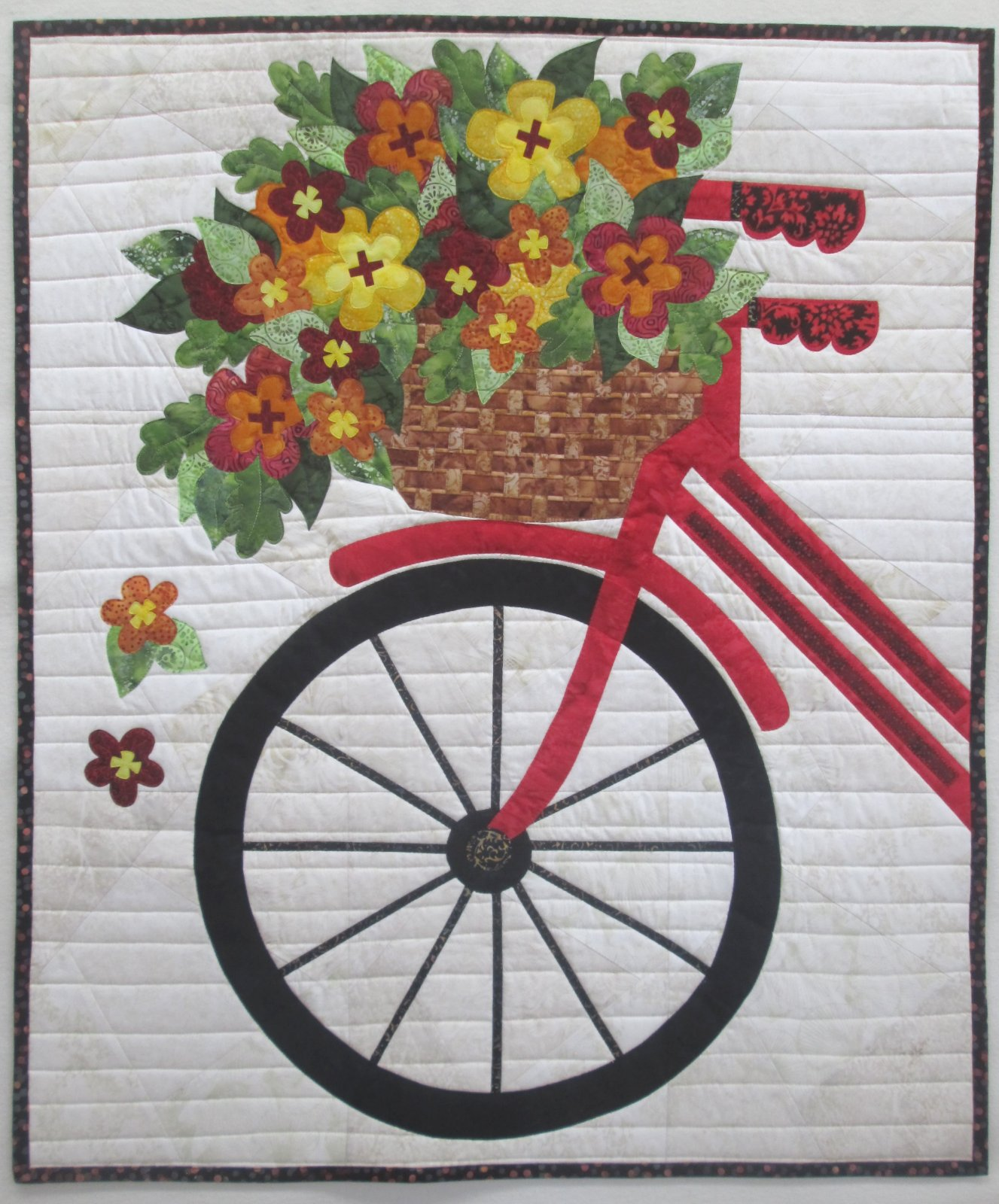 Blossoms & Spokes Batik Wall Hanging Kit