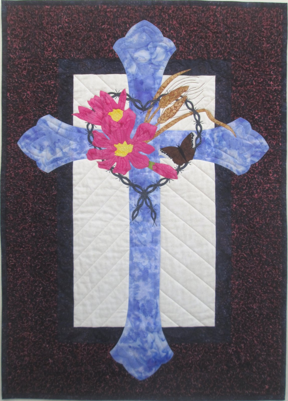 Batik My Faith is in Montana Wall Hanging Kit 26 x 36