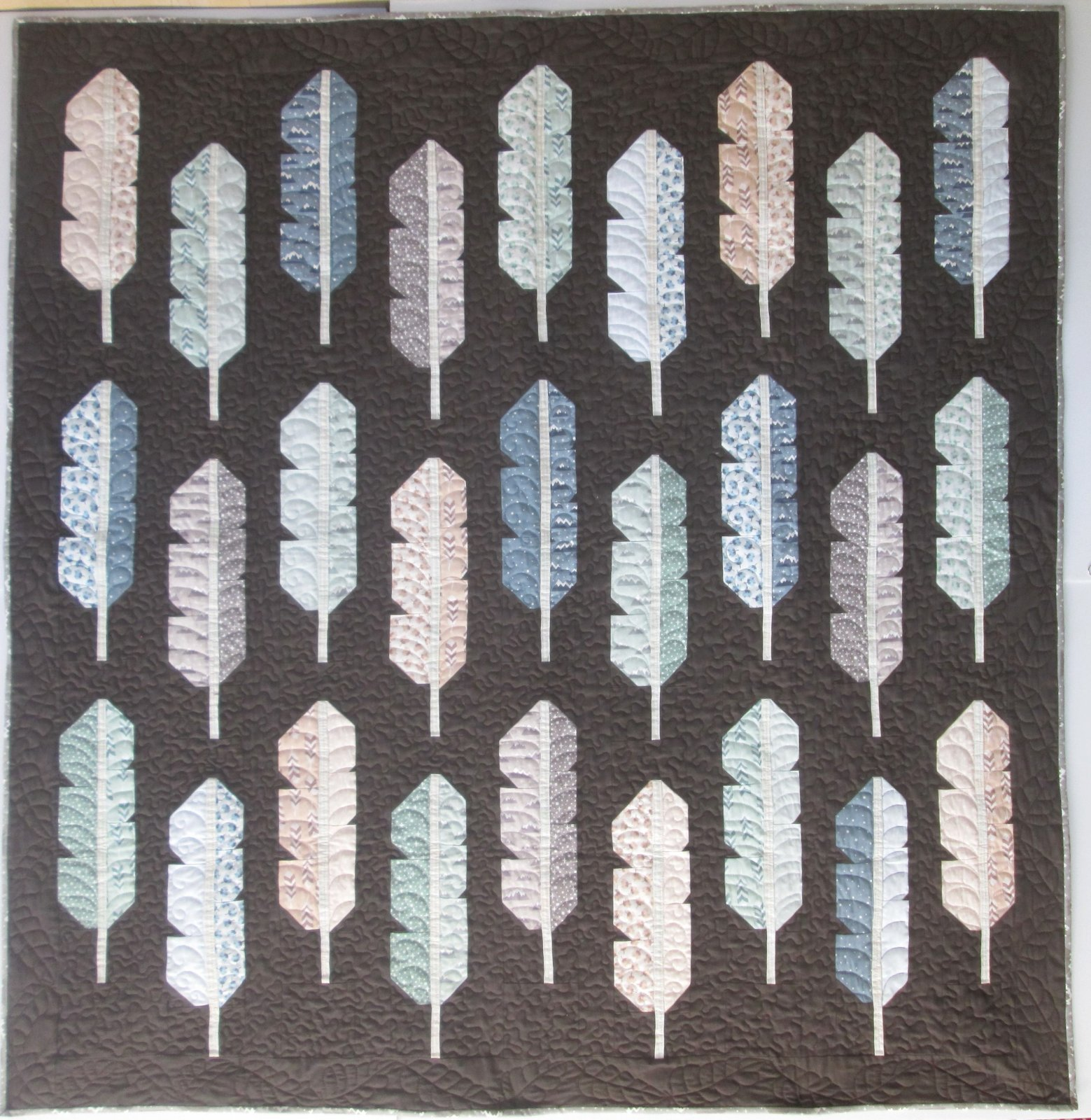 Arctic Feathers Quilt Kit (Lap 58 by 62)