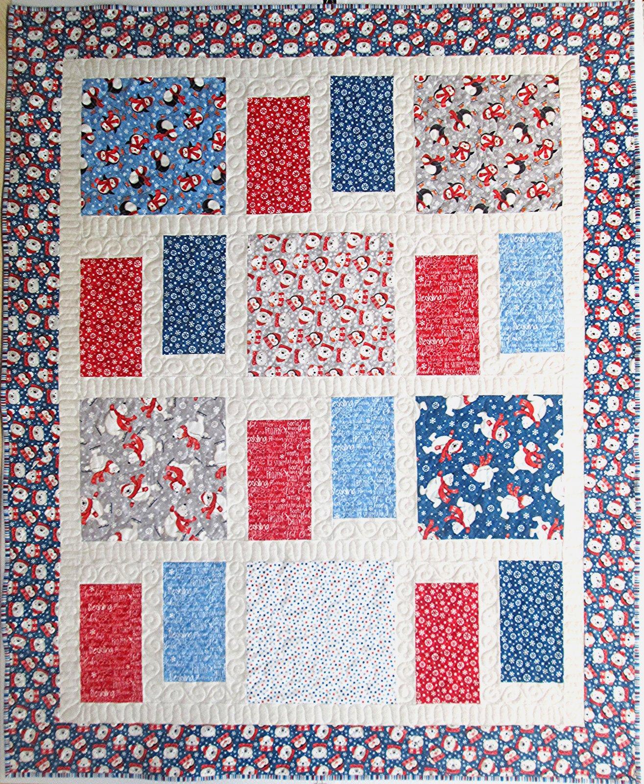Below Zero Flannel Portals Quilt Kit 60 by 76