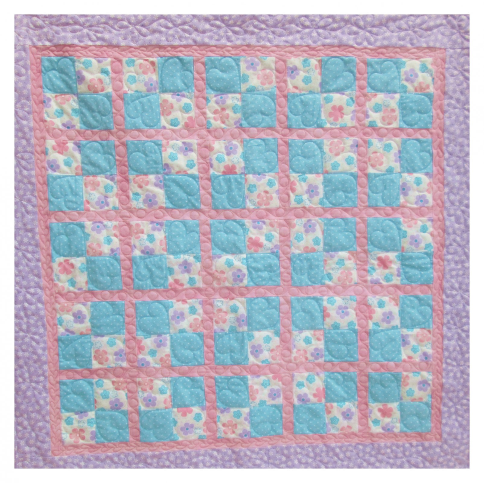 Baby Checkers Flannel Quilt Kit 42