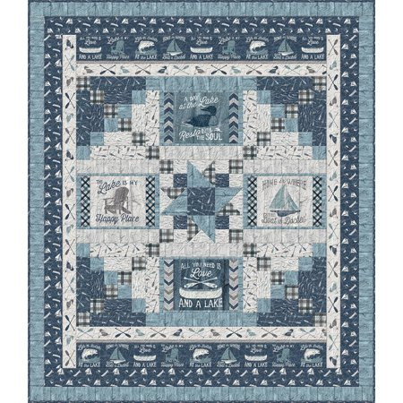A Day at the Lake Quilt Kit 74 by 86