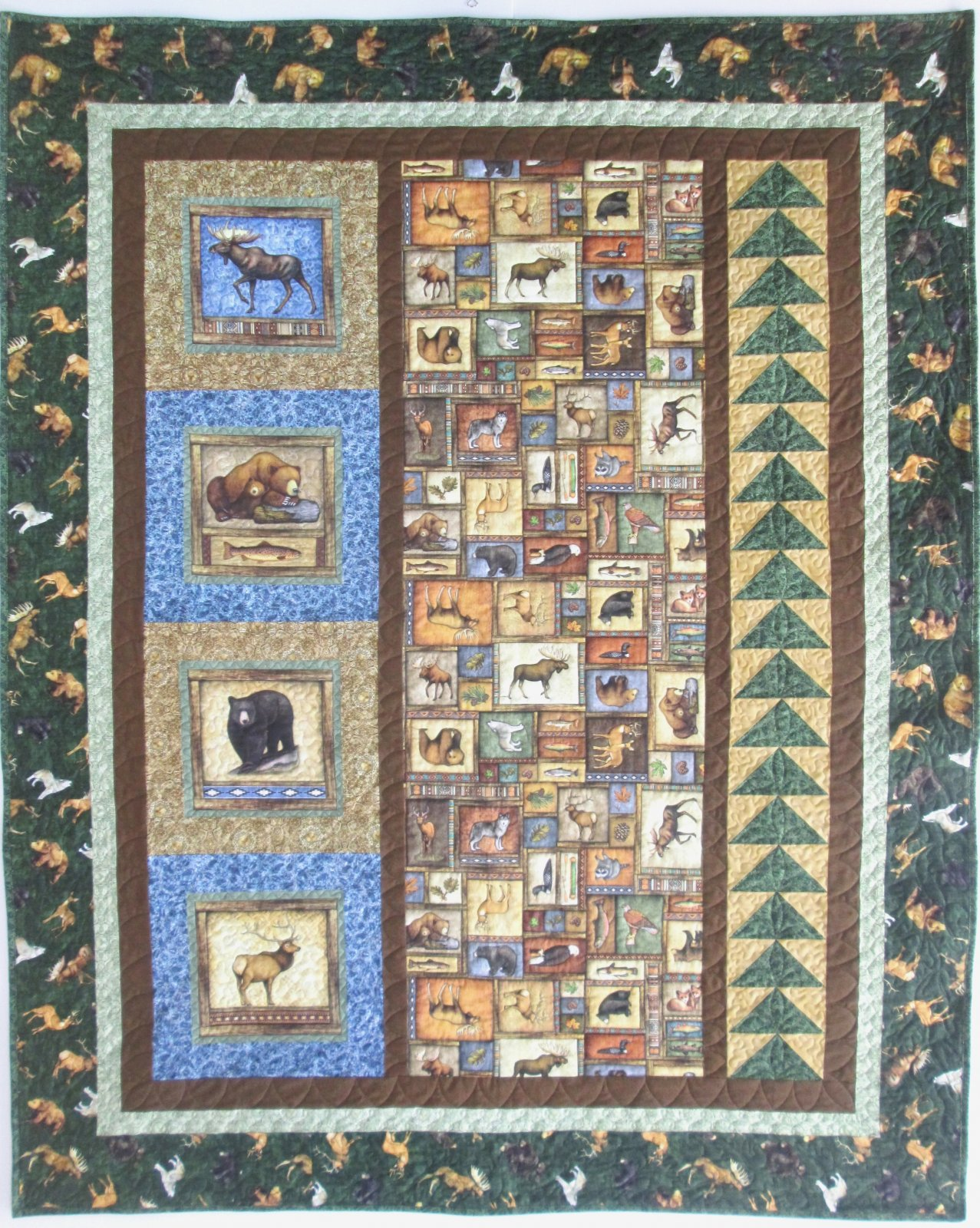 Timberland Trail Sunrise Ridge Quilt Kit 58 by 74