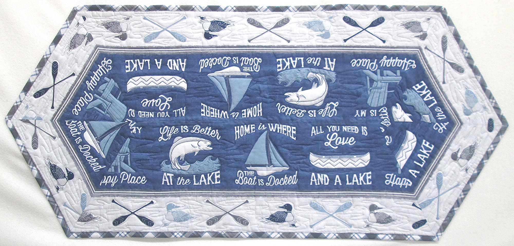 A Day at the Lake Easy Striped Tablerunner Kit 19x 43