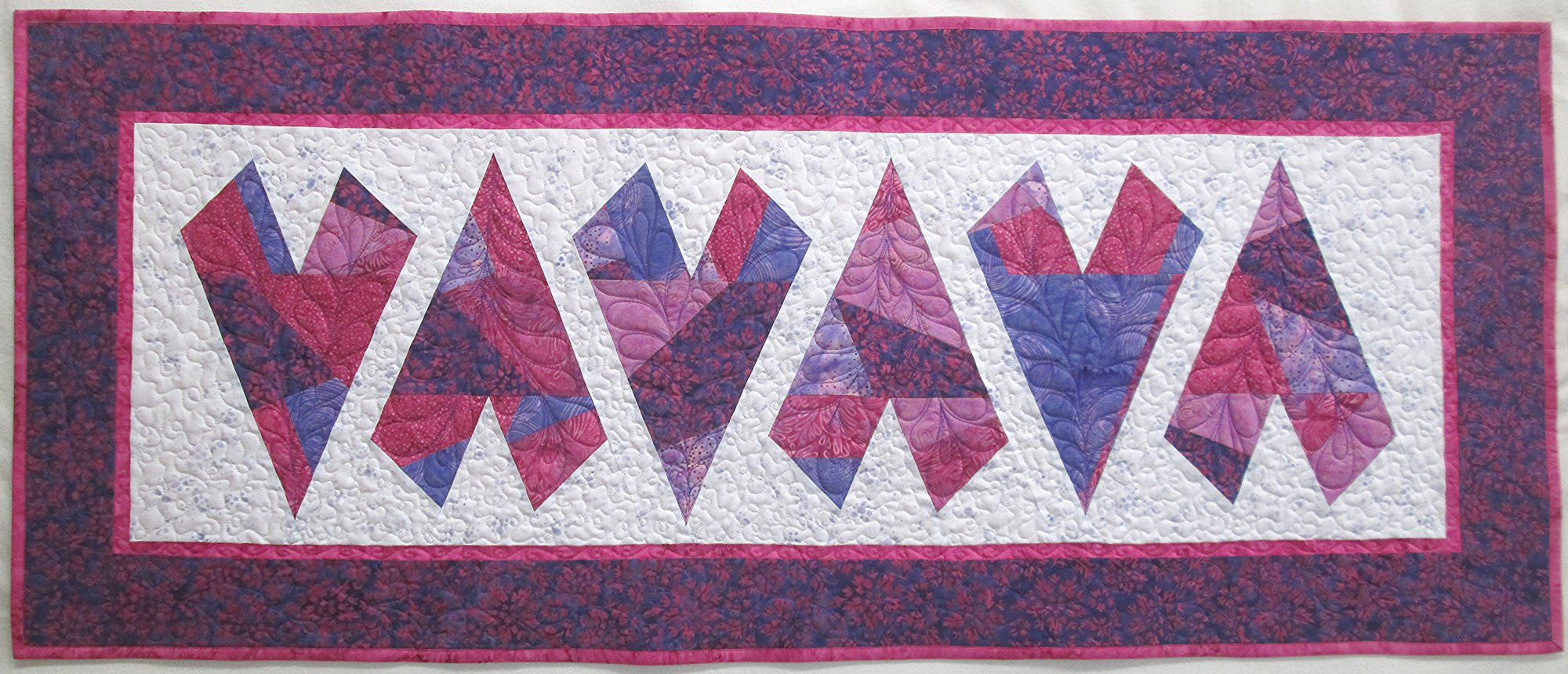 Batik Crazy Hearts Table Runner Kit