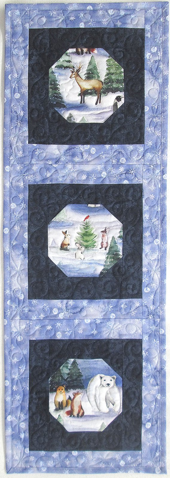 Second Time Around Winter Wonderland Table Runner or Wall Hanging Kit