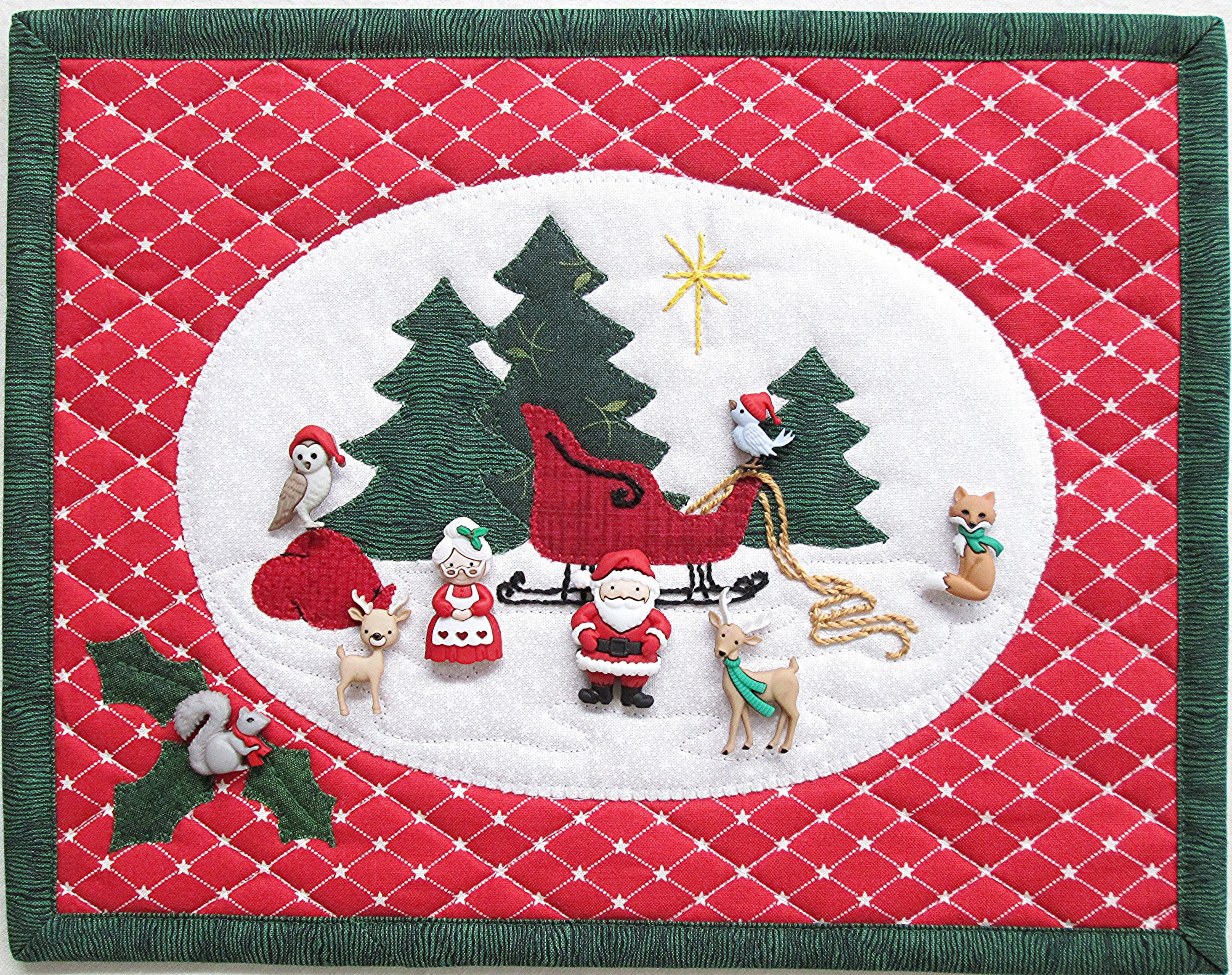 Christmas In the Woods Wall Hanging Kit 11 1/2 x 9