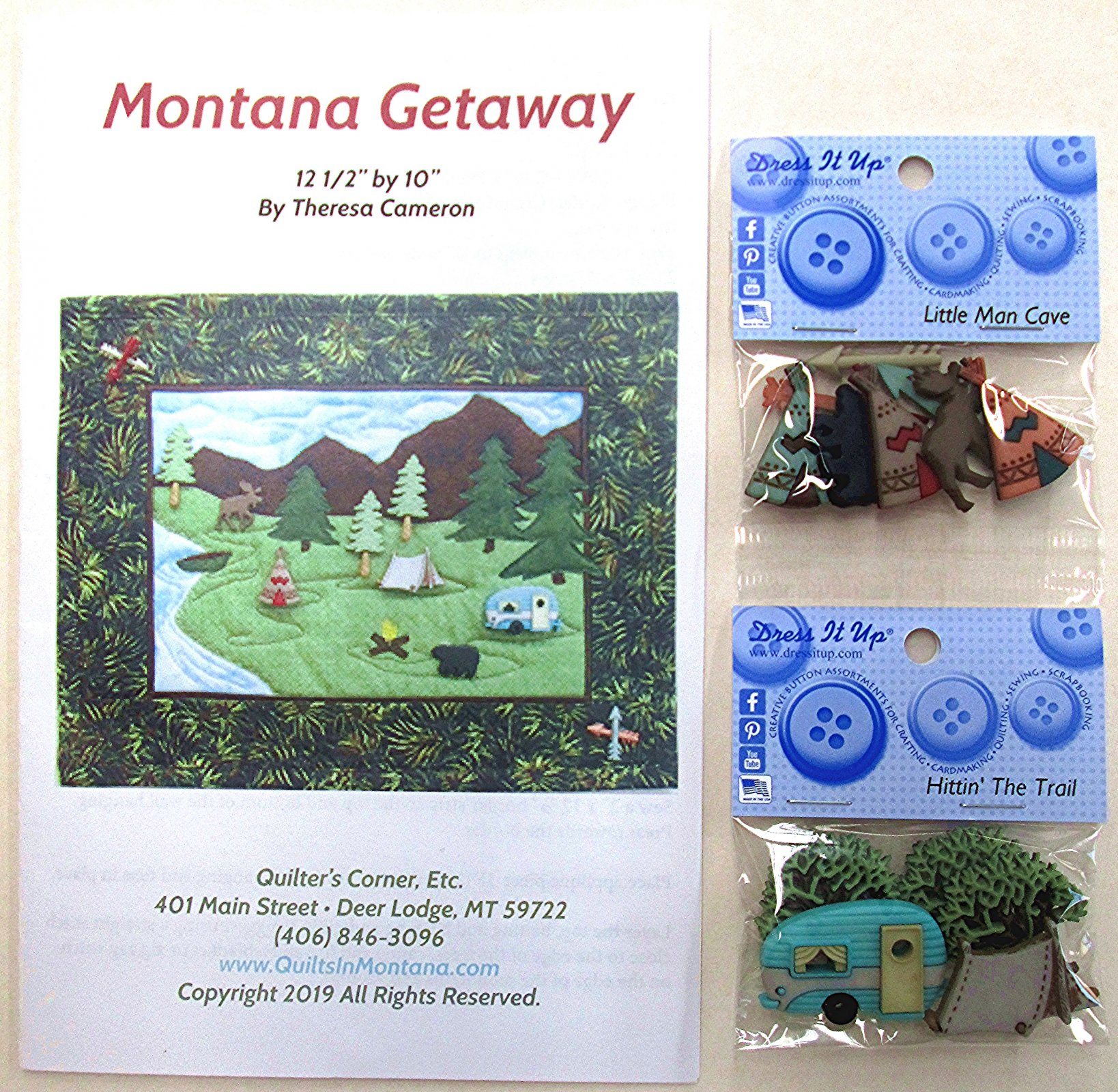 Montana Getaway 2 Pattern with Buttons