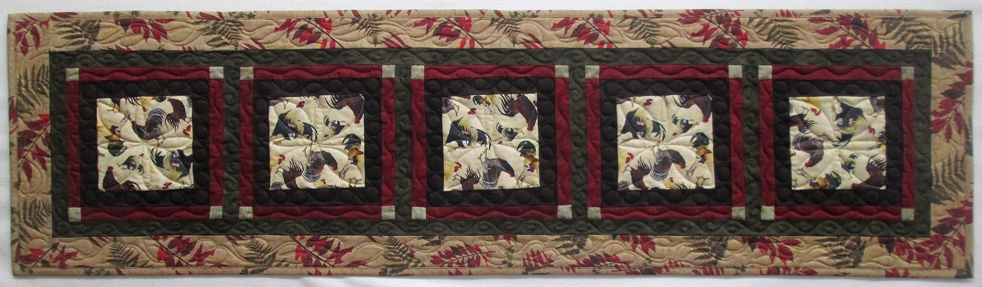 Rustic Rooster Windows Table Runner Kit