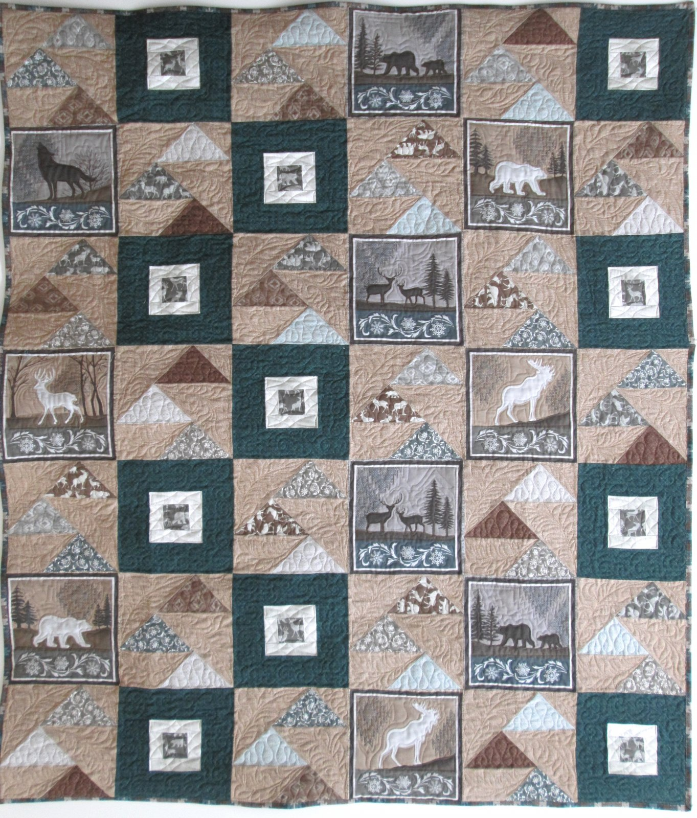 Staggered Geese Modern Lodge Quilt Sample