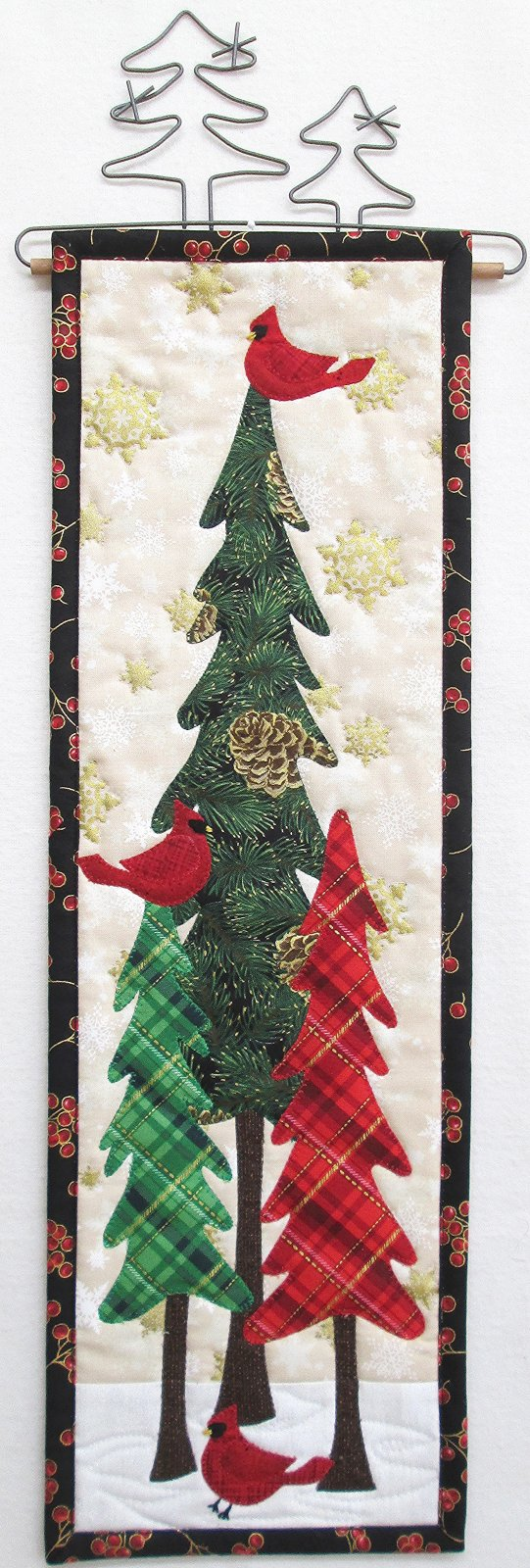 Cardinals In Winter Trees Wall Hanging Kit