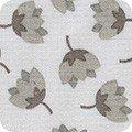 Robert Kaufman Arctic 17699-12 Grey Flowers by Elizabeth Hartman